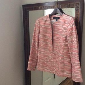 Kasper Women Open Front Tweed Blazer Jacket 8